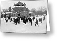 Detroit Michigan Skating At Belle Isle Greeting Card