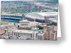 Detroit Midtown Greeting Card