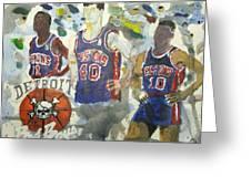 Detroit Pistons Bad Boys  Greeting Card