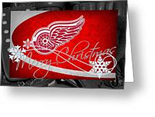 Detroit Red Wings Christmas Greeting Card