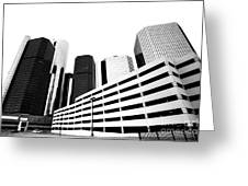 Detroit Ren Cen Greeting Card