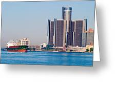 Detroit Renaissance Center Greeting Card