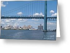 Detroit River Crossing Greeting Card