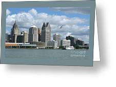 Detroit Riverfront Greeting Card