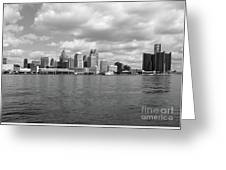 Detroit Skyline Greeting Card