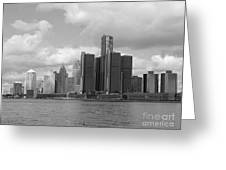 Detroit Skyscape Greeting Card