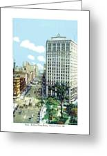 Detroit - The David Whitney Building - Woodward Avenue - 1918 Greeting Card