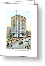 Detroit - The Majestic Building - Woodward Avenue - 1900 Greeting Card