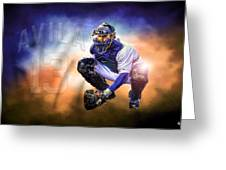 Detroit Tiger Alex Avila Greeting Card