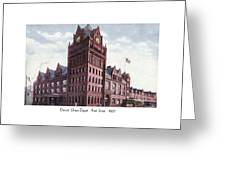 Detroit - Union Depot - Fort Street - 1907 Greeting Card