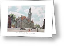 Detroit - United States Post Office - Fort Street - 1908 Greeting Card