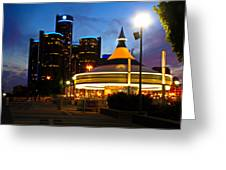 Detroit Waterfront Park Greeting Card