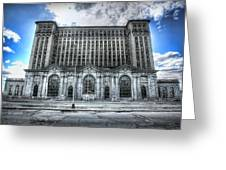 Detroit's Abandoned Michigan Central Train Station Depot Greeting Card