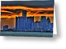 Detroits Sky Greeting Card