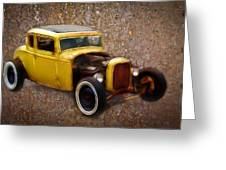 Deuce Coupe On Rust  Greeting Card