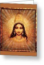 Devi Darshan Greeting Card by Ananda Vdovic