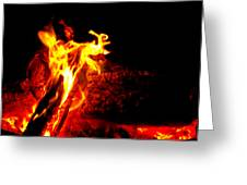 Devil Flame Greeting Card