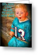 Devil Youre Going Down Greeting Card