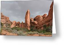 Devils Garden Arches Np Greeting Card
