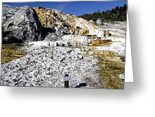 Devils Thumb - Yellowstone Greeting Card