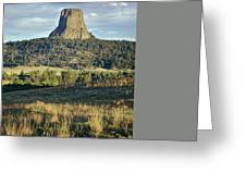 1m9806-devil's Tower 1 Greeting Card