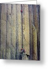 Devil's Tower Climbers Greeting Card