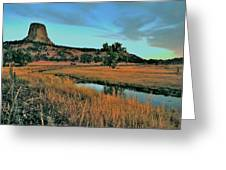 Devils Tower Daybreak Greeting Card