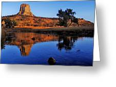 Devils Tower Morning Greeting Card