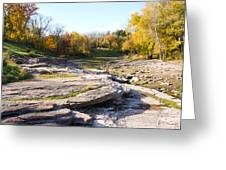 Devonian Fossil Gorge Coralville Lake Ia 3 Greeting Card