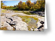 Devonian Fossil Gorge Coralville Lake Ia 1 Greeting Card