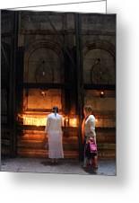 Devotion In Jerusalem Greeting Card