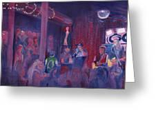 Dewey Paul Band At The Goat Nye Greeting Card