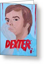 Dexter With Hand Greeting Card
