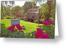 Dexters Grist Mill Two Greeting Card