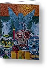 Dia De Los Muertos Greeting Card by Anthony Morris