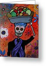 Dia De Los Muertos Fruit Vendor Greeting Card