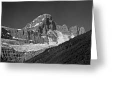1m3728-bw-diadem Peak Greeting Card