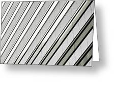 Diagonal Lines Of A Chicago Building Greeting Card