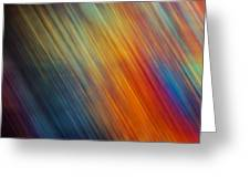 Diagonal Rainbow Greeting Card by John Magnet Bell