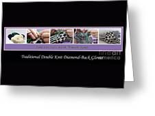 Diamond Back Gloves Greeting Card
