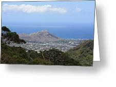 Diamond Head From Wa'ahila Ridge Greeting Card