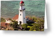 Diamond Head Lighthouse Honolulu Greeting Card