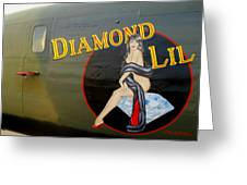 Diamond Lil B-24 Bomber Greeting Card