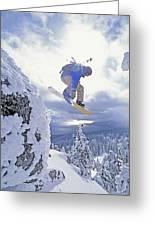 Diamond Peak, Lake Tahoe, Nevada, Usa Greeting Card