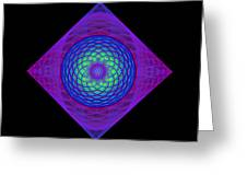 Diamond Swirl Greeting Card by Sandy Keeton