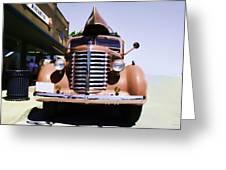 Diamond T Truck - Sahara Greeting Card