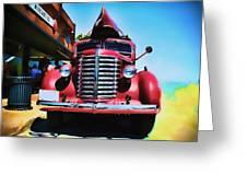Diamond T Truck - Tomato Red Greeting Card