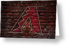Diamondbacks Baseball Graffiti On Brick  Greeting Card by Movie Poster Prints