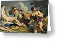 Diana And The Nymphs Surprised By Actaeon Greeting Card
