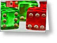 Dice - Boxcars Greeting Card
